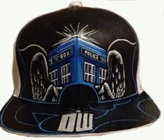 f15adf16455 Doctor Who   Dr. Who   Tardis Handpainted Hat cap handpainted hand painted  hats Baseball cap Dr Who Doctor Who Tardis Police Box Whovian custom hat dr  who ...