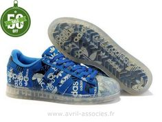 Boutique Adidas Originals Superstar CLR Chaussures Hommes Blanc Bleu (Adidas Superstar 2 Homme)