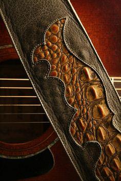 "For Thomas! Guitar Strap: leather guitar strap ""Legend Guitar Strap"". $89.00, via Etsy."