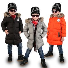 27.58$  Buy here  -  2016 Winter male children's child clothing overcoat child thickening plus velvet with a hood cotton-padded jacket wadded