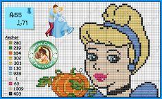 Cinderella cross stitch pattern by Carina Cassol - http://carinacassol.blogspot.com.br/