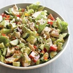 Chopped Salad with Lemon-Chipotle Dressing
