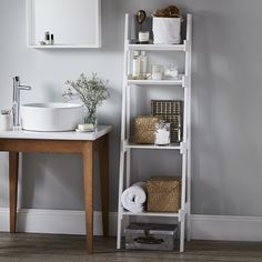 Bathroom Ladder Shelf | Bathroom Furniture | Furniture | Home | The White Company UK