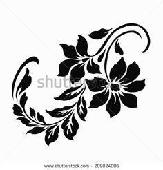 Flower motif for design