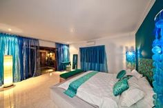 Villas At Seminyak Square, Bali 11 Dream Rooms, Dream Bedroom, Home Bedroom, Master Bedroom, Teen Bedroom, Home Interior Design, Interior Decorating, Blue Rooms, New Room