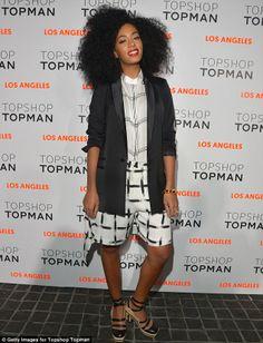 La soeur de Beyoncé en bonne Fashionista était à l'ouverture de la boutique Topshop de LA le 13 février.    Elle arborait un style Topshop pour rendre hommage à la marque.    Si vous souhaitez le même, c'est par ici.