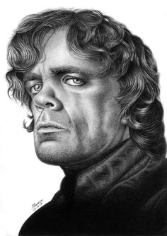 Portrait - Tyrion Lannister-Peter Dinklage by Marcos Jorge Rodrigues