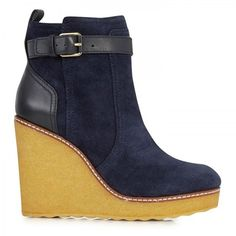 Remy Suede Wedge Ankle Boots - Lyst