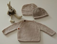 Ravelry: 100% Cashmere Cache-cœur and two Baby Beanies pattern by schneckenstrick
