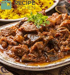 Look at this recipe - Persian Lamb and Herb Stew (Ghormeh Sabzi) - and other tasty dishes on Food Network. Braai Recipes, Goat Recipes, Indian Food Recipes, Crockpot Recipes, Cooking Recipes, Ethnic Recipes, Easy Recipes, Food Network Uk, Food Network Recipes