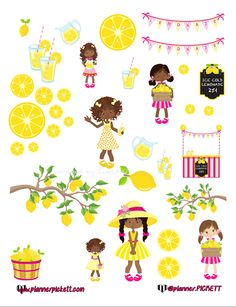 FREE Pink Lemonade Stand Printable Stickers @Plannerpickett