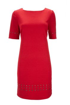 Red Studded Petite Dress