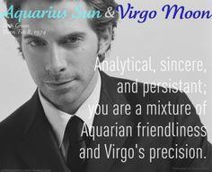 The #Aquarius #Sun / #Virgo #Moon Personality