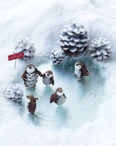 Festive Snow Scene for Penguins