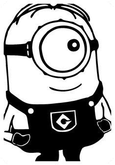 Despicable Me Sideways Glance One Eyed Minion - Die Cut Vinyl Sticker Decal Car Window Decals, Car Decals, Vinyl Decals, Image Minions, Cartoon Silhouette, Silhouette Files, Silhouette Portrait, Silhouette Cameo Projects, Stencil Art