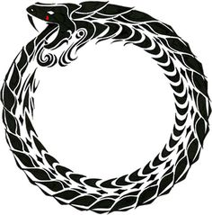 Ouroboros. Ancient symbol of rebirth and renewal of life.