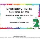 Use this Task Card packet to teach students the Divisibility Rule for TWO or to help them review and get practice using the rule.  The 15-card pack includes answer sheet and complete key. $2.50