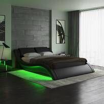 Latitude Run® Jacoury Queen Low Profile Platform Bed & Reviews | Wayfair Platform Bed Frame, Upholstered Platform Bed, Upholstered Beds, Led Bed Frame, Cool Bed Frames, California King Bedding, Bedroom Colors, Bedroom Ideas, Male Bedroom Decor