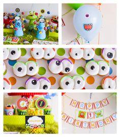 Monster Party ideas  #birthday #monstertheme #monsterparty