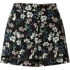Miss Selfridge Floral Shorts, Multi ($23) ❤ liked on Polyvore featuring shorts, skirts, bottoms, short, floral printed shorts, floral shorts, short shorts, flower print shorts and floral print shorts