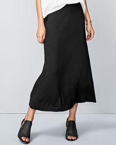 Eileen Fisher Viscose Jersey Flare Midi Skirt