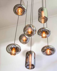 Eve Bulbs Smoke Metallic Hanging Ceiling Lights, Ceiling Lamp, Barn Lighting, Home Lighting, Lighting Ideas, Teal Kitchen Decor, Suspension Vintage, Lamp Bulb, Modern Chandelier