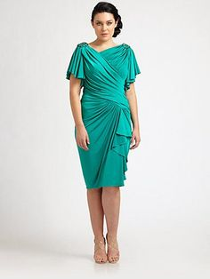 Plus Size After Five Dresses | Ruched Dress - Saks.com (Thanks to @A Practical Wedding for the dress ...
