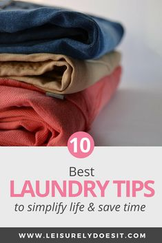 Do you feel as though you spend too much time sorting, washing and folding your family's clothes? Click through for some simple laundry tips and tricks that will make the whole process go a lot faster each week. Household Cleaning Schedule, Cleaning Schedule Printable, House Cleaning Tips, Cleaning Hacks, Cleaning Routines, Tips And Tricks, Wash And Fold, Folding Laundry, Laundry Hacks