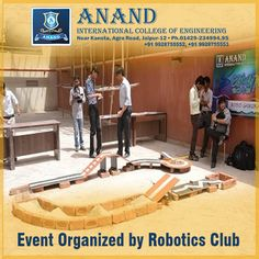 In our campus we give the opportunity to our students to meet up the future technologies and chance to show their own invention through the #Robotics Club. http://www.anandice.ac.in/robotics-club
