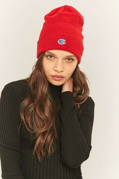 Shop Champion Ribbed Beanie at Urban Outfitters today. 4da53b07b534