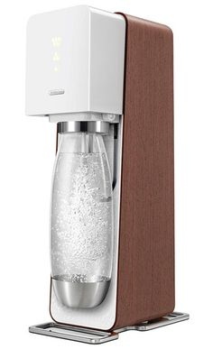 soda stream source w/wood veneer to create a large supply of sparkling water for get together. @DinnerByDesign