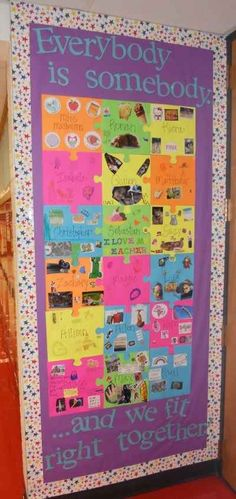 A Perfect Fit | 31 Incredible Bulletin Boards For Back To School  Great to Put on your door !!