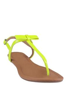 #neon #sandal with bow top  $20.50