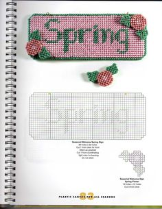 Plastic Canvas For All Seasons - seasonal a Welcome Sign - Spring