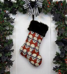 Goth Punk Christmas Stocking Realistic by WorkingClassPunx on Etsy