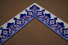 Turkish Art, Border Design, Islamic Art, Corner Border, Mandala, 18th, Ceramics, Traditional, Frame