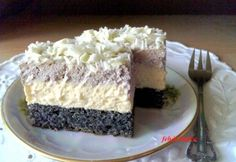 Orchidea szelet Hungarian Desserts, Hungarian Recipes, Ketogenic Recipes, Keto Recipes, Smoothie Fruit, Poppy Cake, Homemade Cakes, Winter Food, Cookie Recipes