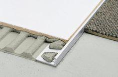 Schluter Schiene Aluminium Tile Trim (straight) x (pack of SCHIENE-A 30 - Wall tiles and floor tiles - The Tile Experience Schluter Tile Edge, Carpet To Tile Transition, Floor Transition Strip, Transition Flooring, Baguette, Shower Niche, Shower Pan, Tile Trim, Stair Nosing