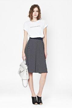 Suki Stripe Midi Skirt