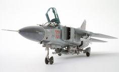 MIG-23MF FLOGGER B Model from Trumpeter - Eduard MiG-21 kit