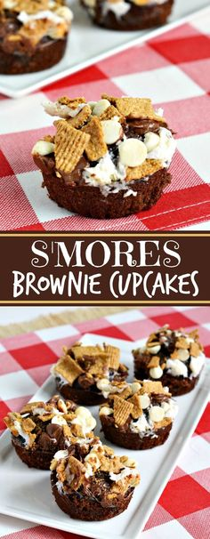 Summer S'MORES brownie cupcakes recipe - perfect for a rainy day!
