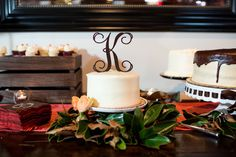 Perfect wedding cake topper from Inscribed! https://www.etsy.com/shop/inscribedmonograms?ref=hdr_shop_menu