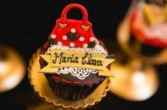 Cupcakes Festa Minnie Vermelha da Maria Clara