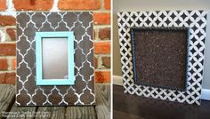Stenciled picture frame ideas using Cutting Edge Stencils craft size stencils. Love these
