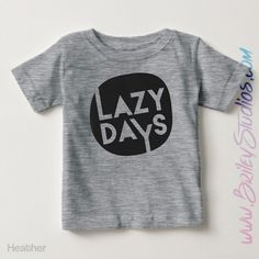 Lazy Days Short Sleeve Toddler T-Shirt, Hipster, Modern Kids Clothes, Funny, Woke Up Like This, Days At Home, Hip, Personalized Kids Clothes by BrileyStudios on Etsy