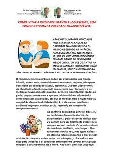 Como Evitar a Obesidade Infantil e Adolescente; Bem Como o Estigma da Obesidade na Adolescência by VAN DER HAAGEN via slideshare
