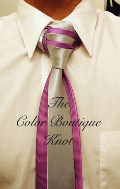 Knot by Boris Mocka Fancy Tie, Make A Tie, Cool Tie Knots, Cool Ties, Tie Knot Styles, Mens Sweat Suits, Tie A Necktie, Scarf Knots, Well Dressed Men