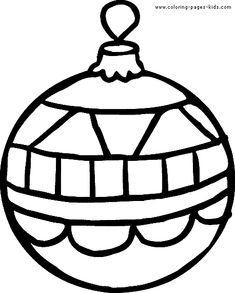 Ornament Line Drawing | Christmas coloring pages - Christmas Ornaments ...
