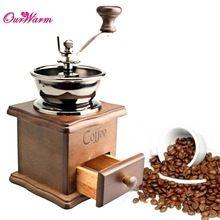 Retro Manual moedor de mão moedor de café Manual de máquina de cozinha ferramentas de decoração acessórios(China (Mainland))