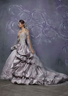 Couture Gown #Purple #Ombre #Wedding